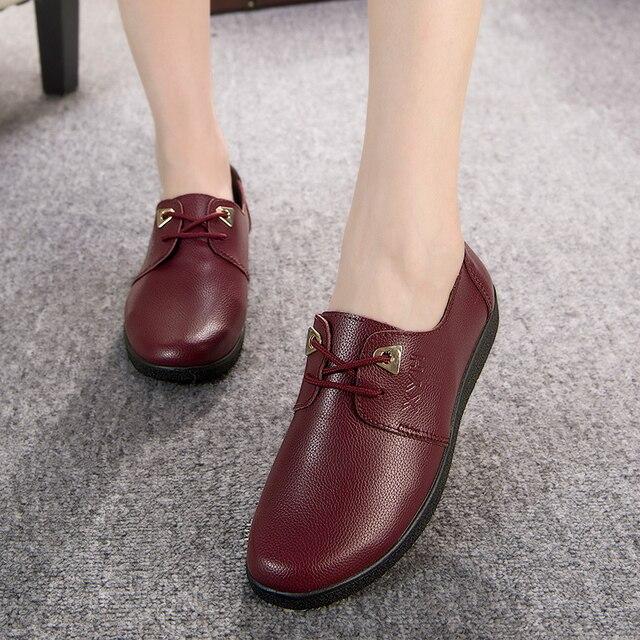 Бесплатная доставка 2016 весной и осенью новая мода обувь туфли пожилая мать удобные повседневная обувь мягкое дно плоской подошве