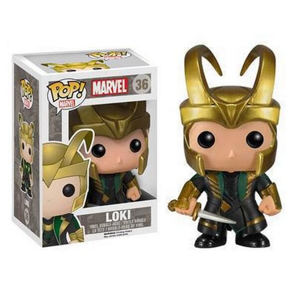 FUNKO POP Marvel Loki #36 Bobble Head Wacky Wobbler PVC Action Figure Collectible Toy Car Decoration Doll 12CM  funko pop marvel the hulk no 08 red hulk no 31 iron man vinly bobble head pvc action figure collectible model toy gift for kids