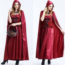 Disfraces de halloween para las mujeres sexy fantasy cosplay caperucita roja uniformes del juego fancy dress outfite0013