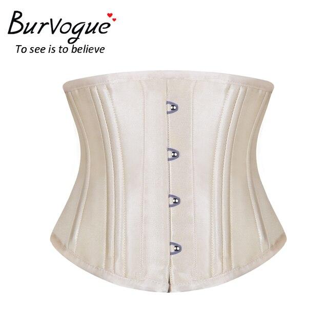 9feb239c6e2 Burvogue Waist Control Corset Steel Bone Underbust Corset Waist Control  Slimming Body shaper For Women Steampunk corset