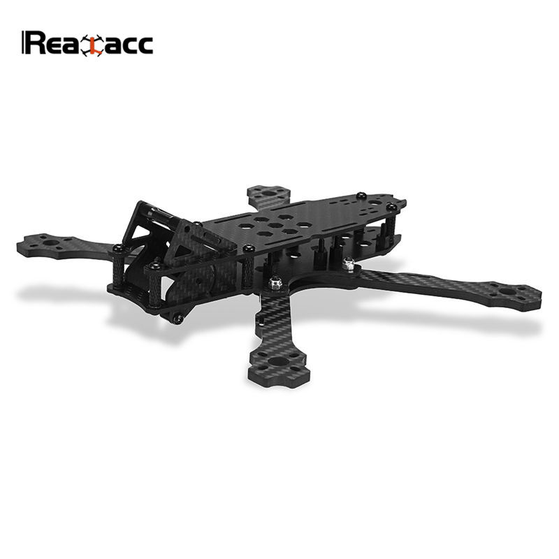 Realacc 215 5 Inch 215mm Wheelbase 4mm Arm Carbon Fiber Frame Kit for RC Models Multicopter FPV Drone Motor ESC Spare Part Accs miko rhino3 150mm wheelbase 3 inch 6mm arm carbon fiber molded integrated rc fpv racing frame kit for diy multicopter drone part