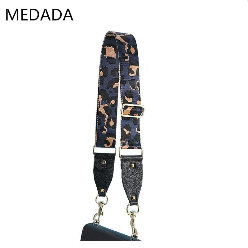 MEDADA New 2019 Leopard Print Strap Accessories  Belt Wide Shoulder Bag Strap  Handbag Part Adjustable Belt