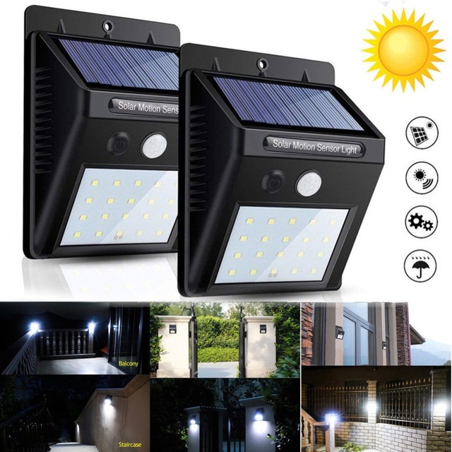 30 LED Solar Power PIR Motion Sensor Wall Light Outdoor Waterproof Energy Saving Yard Path Home Garden Emergency Security Lamp
