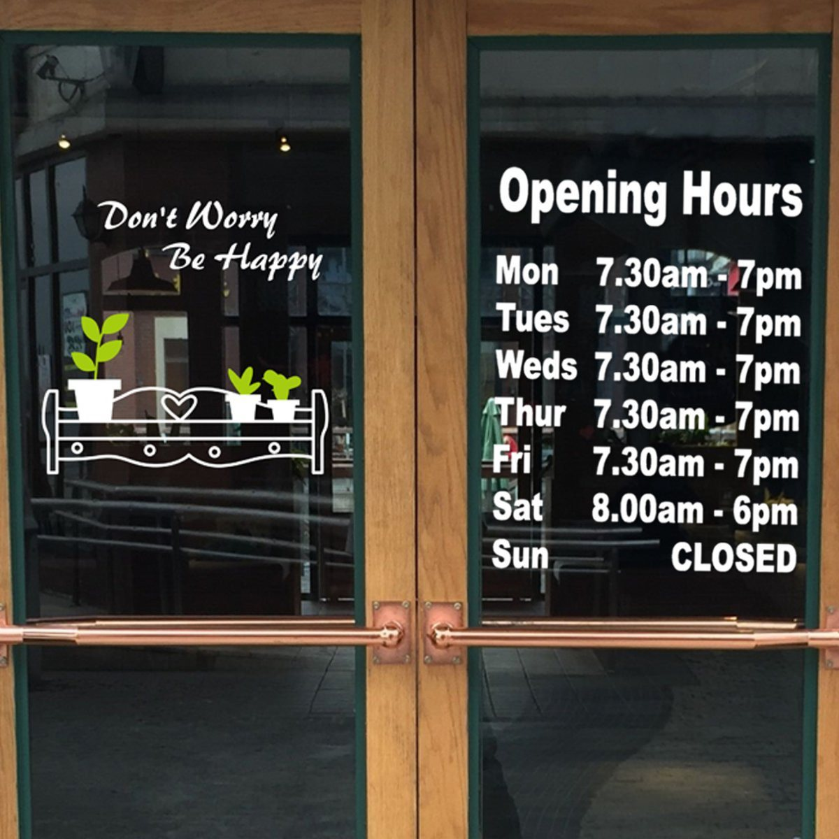 Popular Business Hours DecalBuy Cheap Business Hours Decal Lots - Window decals for business hours
