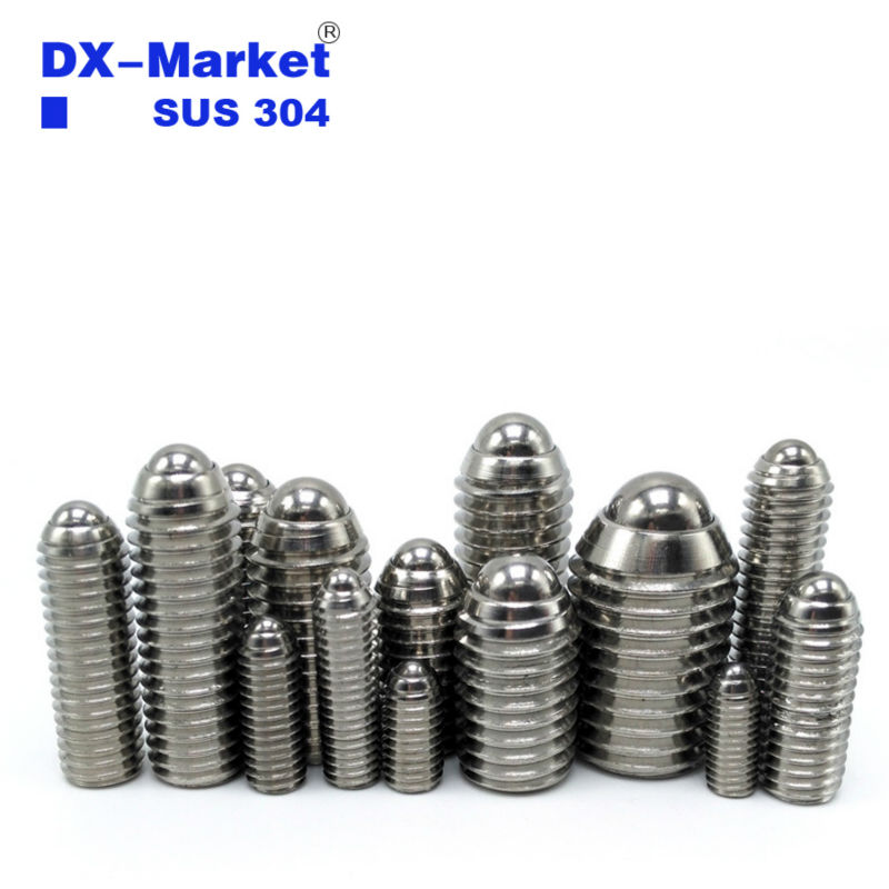 m8*16-30mm , High quality m8 Ball Spring Plunger screw , 304 Stainless Steel hex socket set screws 304 stainless steel spring ball plunger screw hex socket set screws m3 m4 m6 m8 m10 m12 m16 ball spring plunger positioning bead