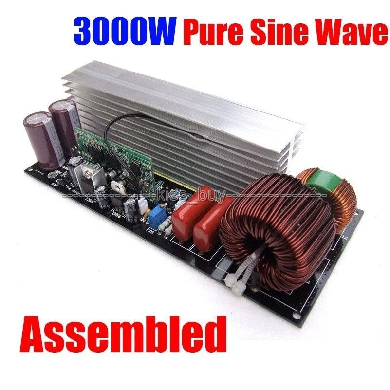 Assembled <font><b>3000W</b></font> Pure Sine Wave Power Frequency <font><b>Inverter</b></font> <font><b>Board</b></font> Post Sinewave Amplifier ac 220v 50/60HZ image