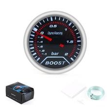 """Dynoracing """" 52 мм дымовая Линза Автомобиля турбо Boost gauge(-1~ 2 бар) boost meter автомобильный измеритель TT101225"""