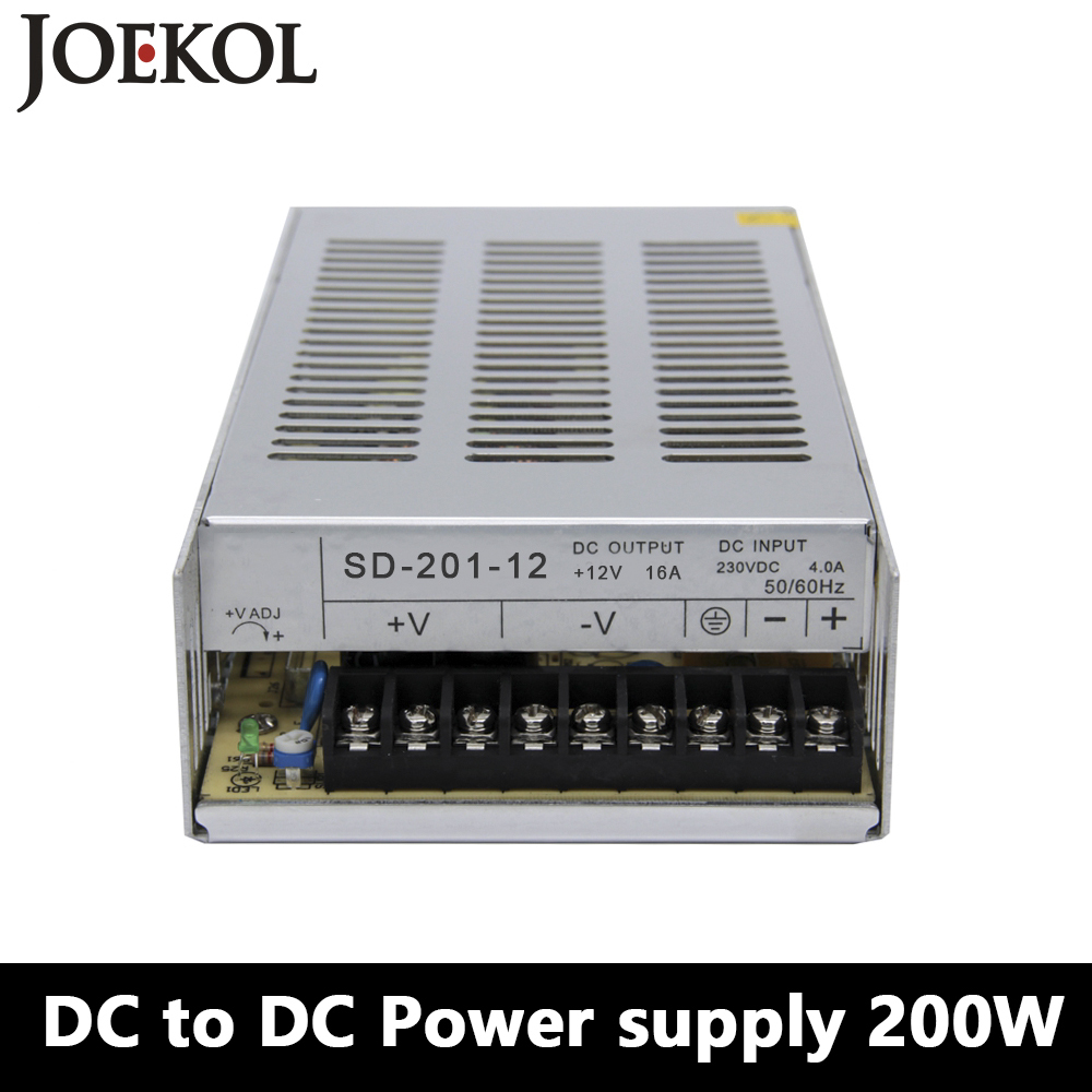 SD-200 DC to DC switching power supply,200W dc power supply for Led Strip,DC 19V~144V Transformer to 5v 12v 24v 48v dc dc converter sd 100b 24 single output switching power supply for led equipment input 19v 36v to 24v