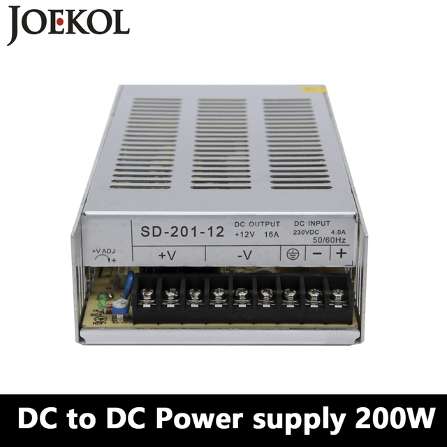 SD-200 DC to DC switching power supply,200W dc power supply for Led Strip,DC 19V~144V Transformer to 5v 12v 24v 48v