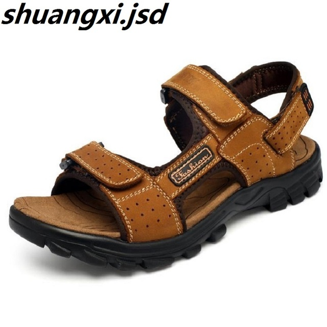 ce4acdb08 Men Shoes Casual Male Sandals Summer Outdoors Open Toe Slippery Beach Shoe  Breathable Shoes Male