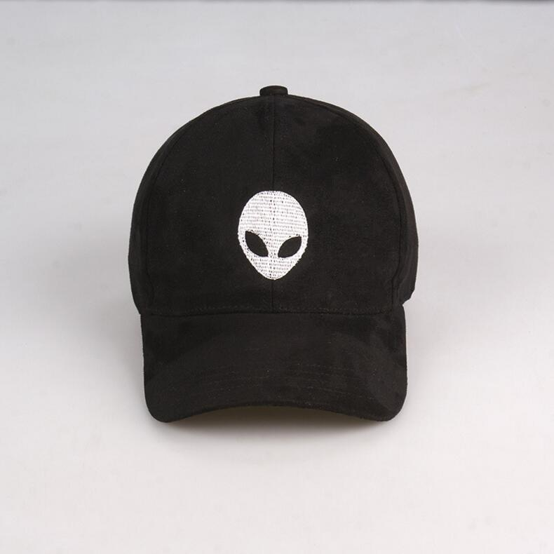 high quality alien baseball cap men women fans black pink suede fabric hat brandy melville nostromo