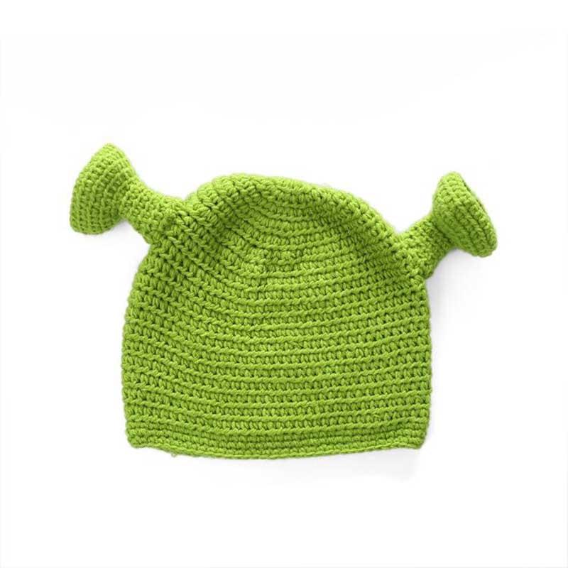 2017 winter hats for women balaclava monster Shrek wool hat creative Funny knitted hat pure hand winter cap men hat