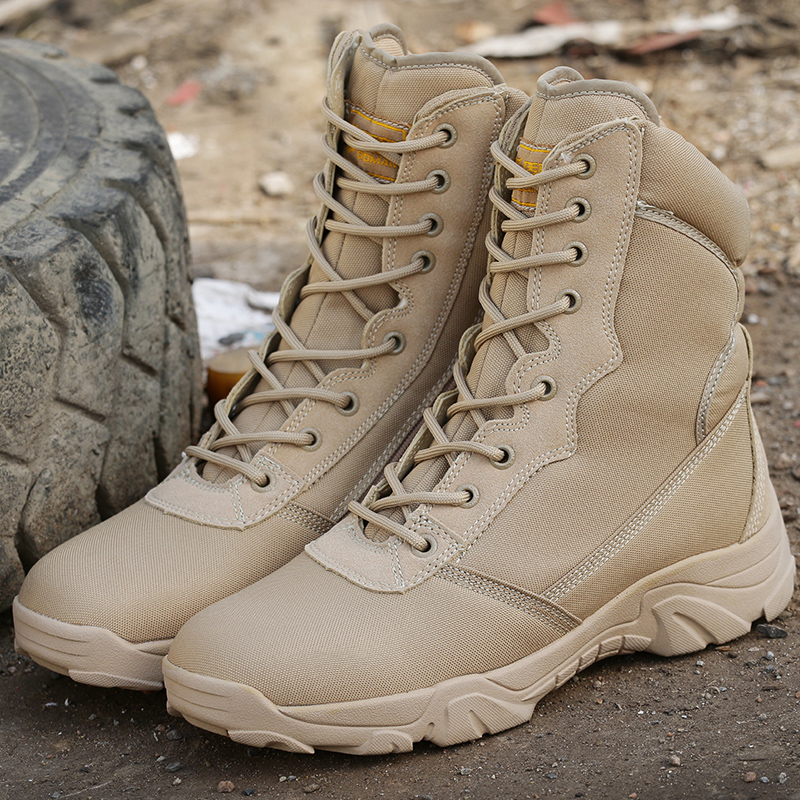 Men High Quality Brand Military Leather Boots Special Force Tactical Desert Combat Men's Boots Outdoor Shoes Ankle Boots