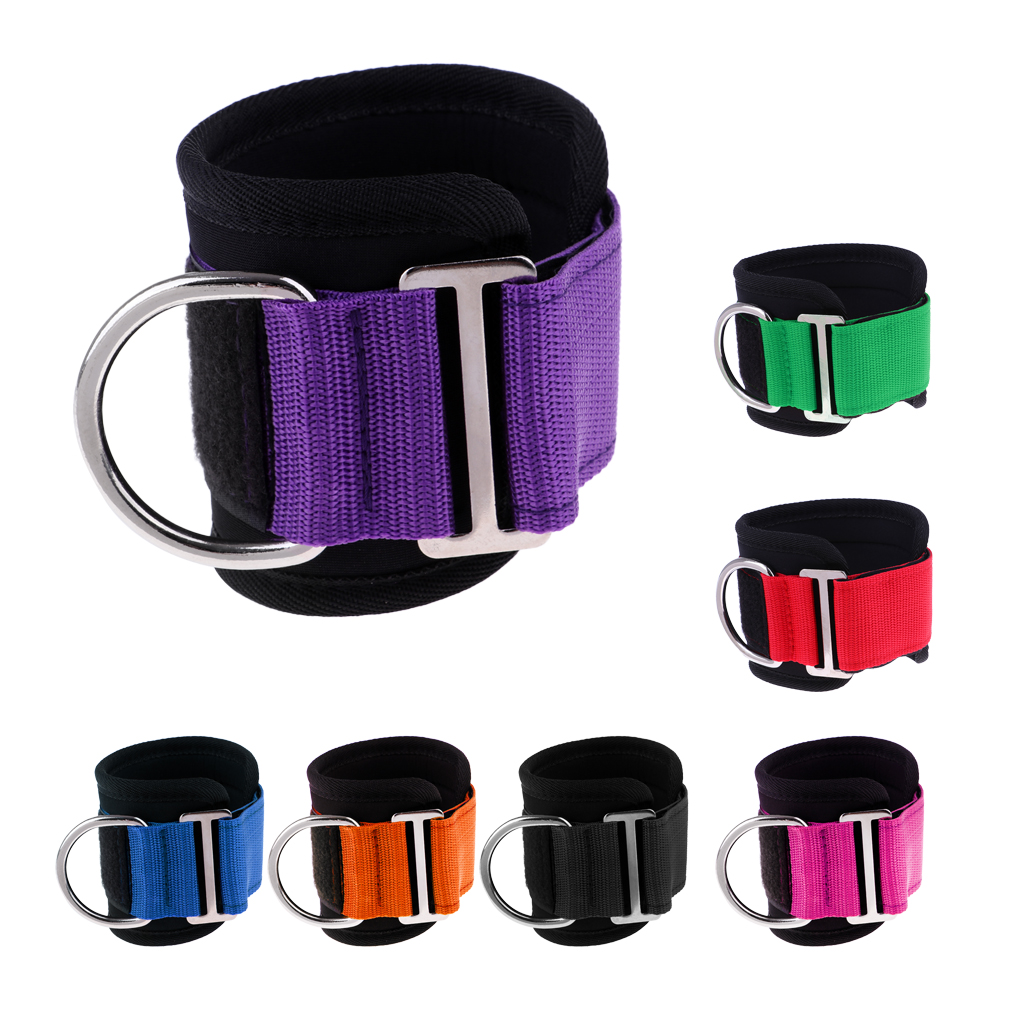 Professional Ankle Anchor Strap Ankle Wrist Wrap for Weight Lifting Yoga Pilates Exercise Stretch Fitness Gym Cable Attachment