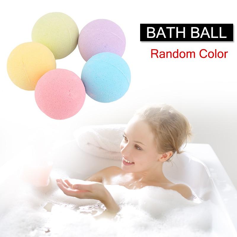 1 Pcs Organic Bath Salt Ball Natural Bubble Bath Bombs Ball Rose Green Tea Lavender Lemon Milk Skin Care Bath Salts Ball