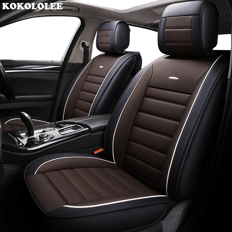 Kokolololee housse de siège auto en cuir synthétique polyuréthane auto antidérapant coussin de siège de voiture pour KIA lada lifan daewoo Hyundai accessoires de voiture solaire