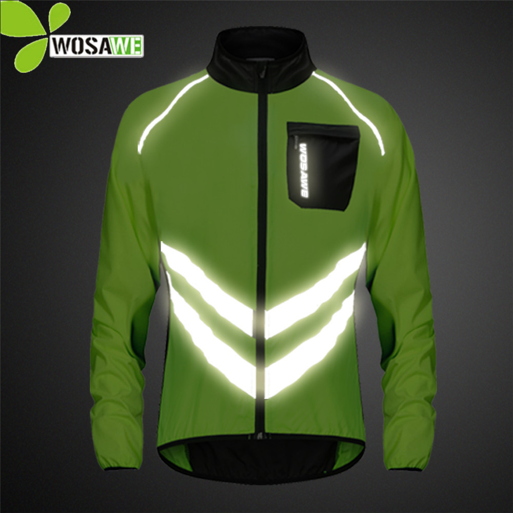 Hot Sale Wosawe Reflective Cycling Clothing Man High Visibility