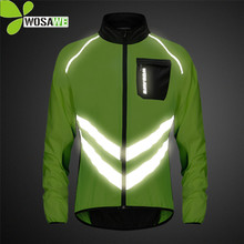 WOSAWE Reflective Cycling Jackets Men Breathable Waterproof Lightweight Rain Windbreaker Coat Bicycle Cycle MTB Bike Clothes недорого