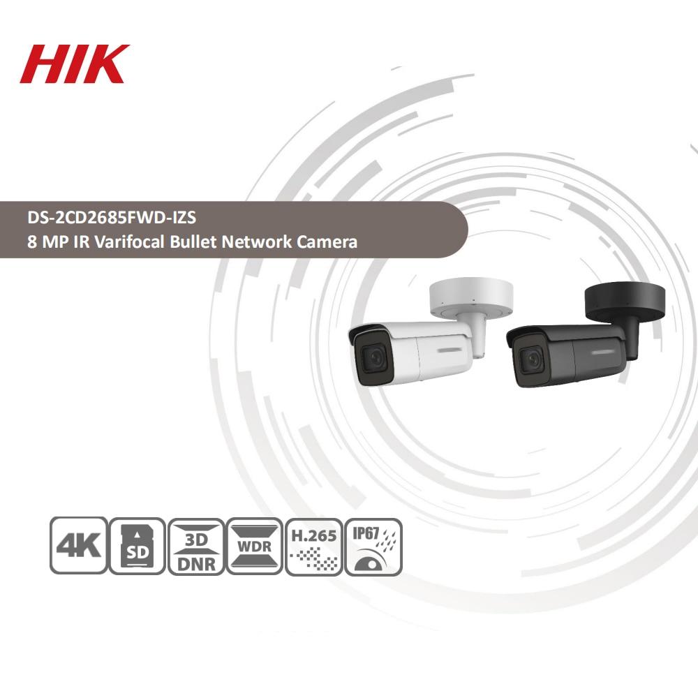 Image 2 - Hikvision Original DS 2CD2685FWD IZS Bullet Camera 8MP POE CCTV Camera 50m IR Range IP67 IK10 H.265+ 2.8 12mm Zoom-in Surveillance Cameras from Security & Protection