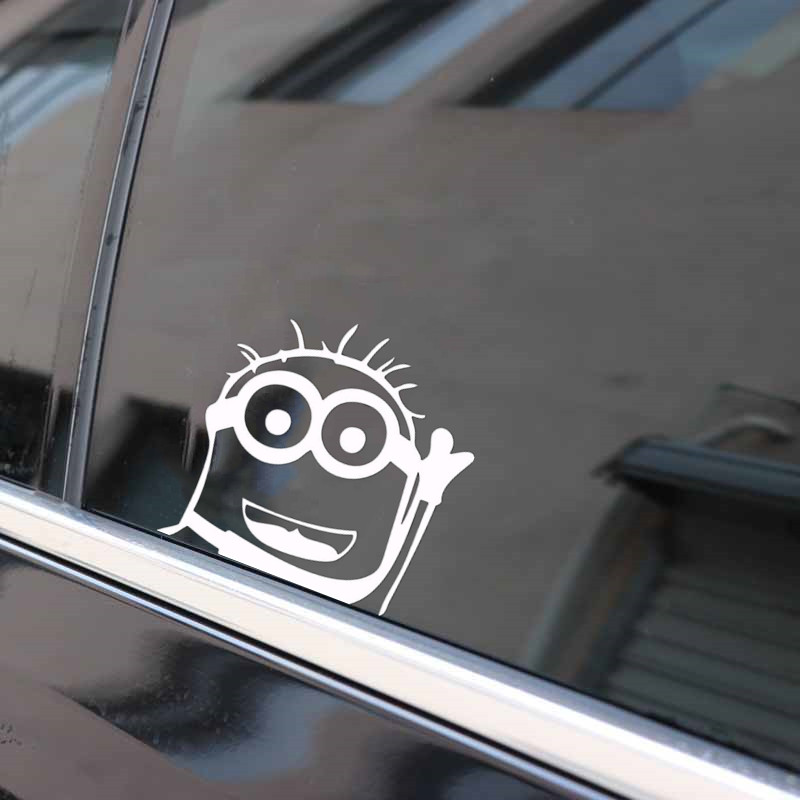 A Set Minions Running Car sticker Window Bump Mirror Sticker Wall Sticker