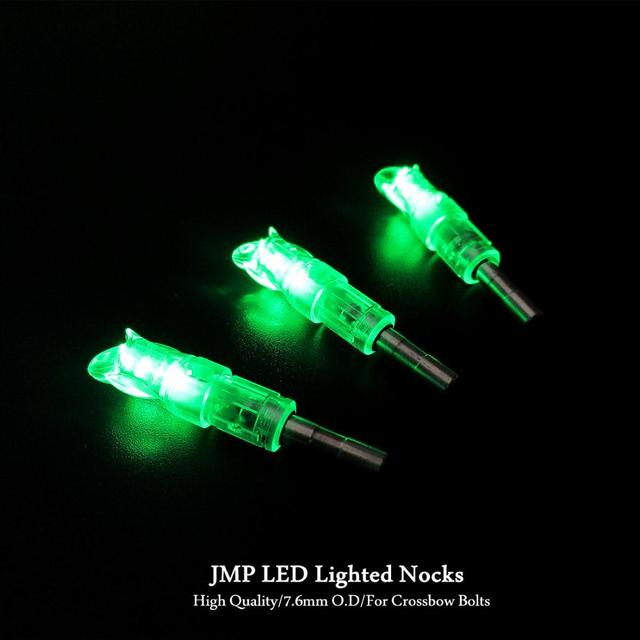 Archery Arrow LED Lighted Nocks Automatic Knocks Tail For 7.6mm/0.299 Inch I.D For Aluminum/Carbon Crossbow Bolts 5 Pack 5