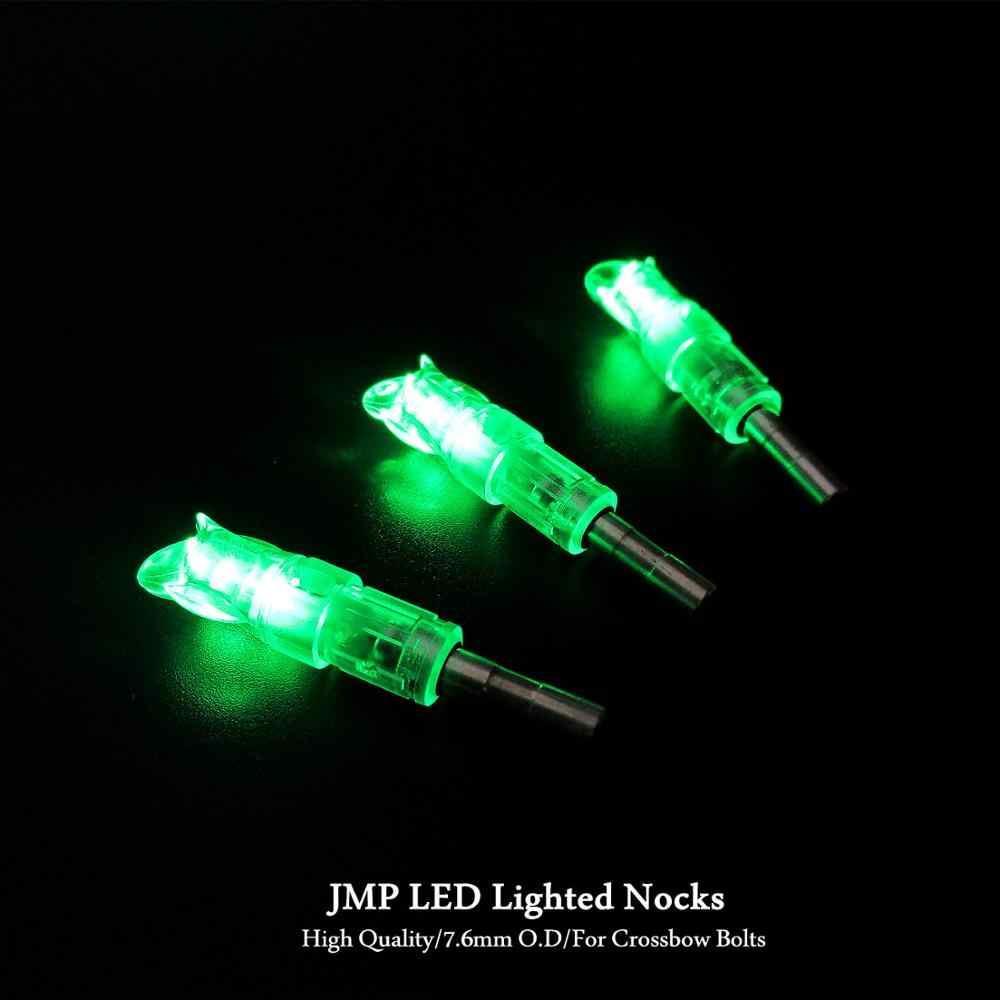 Bắn cung Mũi Tên LED Có Đèn Nocks Tự Động Bị Kẹt Đuôi Cho 7.6mm/0.299 Inch I.D Cho Nhôm/Carbon Nỏ bu lông 5 túi/lô