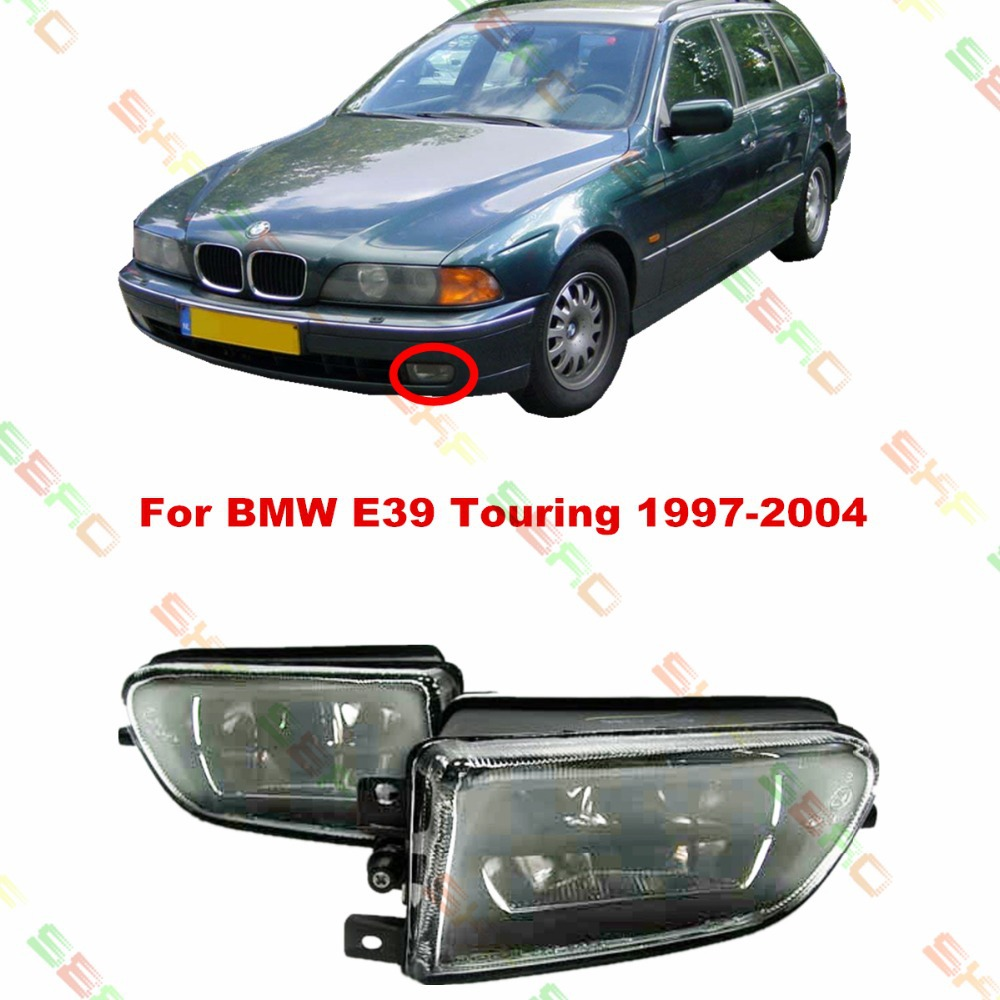 Для BMW E39 гастроли 1997-2004 стайлинга автомобилей противотуманные фары 1 набор хрусталя светильники