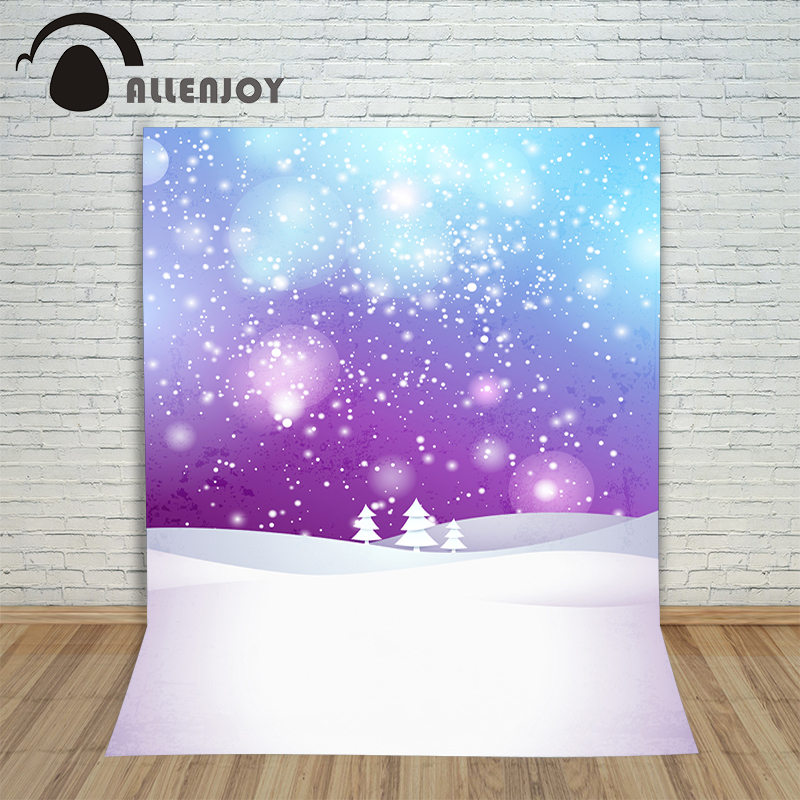 Allenjoy Christmas background Winter snow shiny bokeh tree dots professional backdrop for photo studio oxford cloth