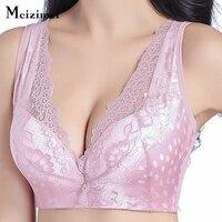 Meizimei Women Vest Bra Brassiere Wire Free C D Cups 38 40 42 44 46 48