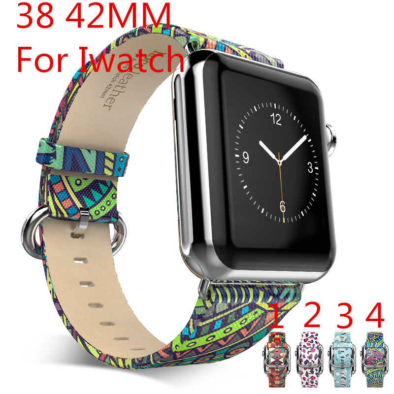 2016 New Fashion Personality 38mm 42mm Apple Watch Strap Leather Watchband Iwatch connector for apple Watch,Free Shiping цена