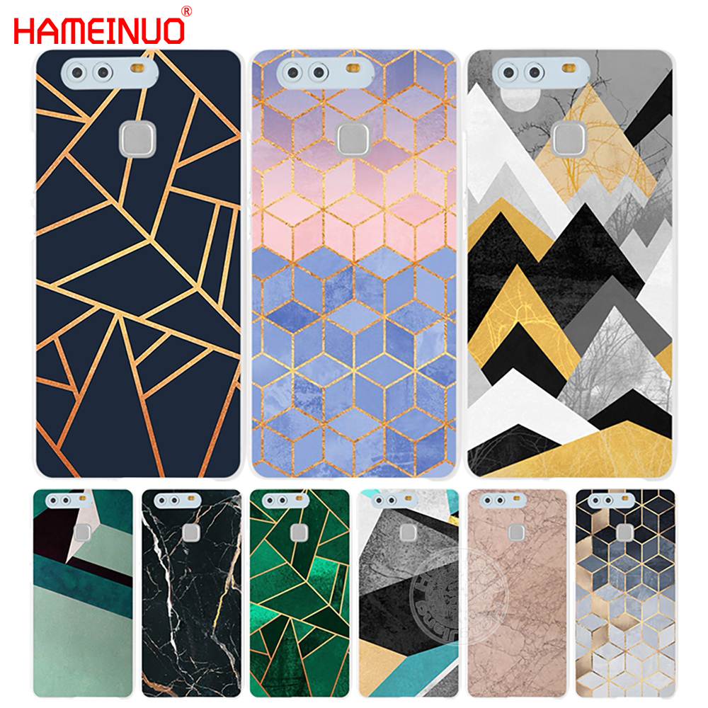 HAMEINUO Marble Line Luxury Cover phone Case for huawei Ascend P7 P8 P9 P10 lite plus G8 G7 honor 5C 2017 mate 8
