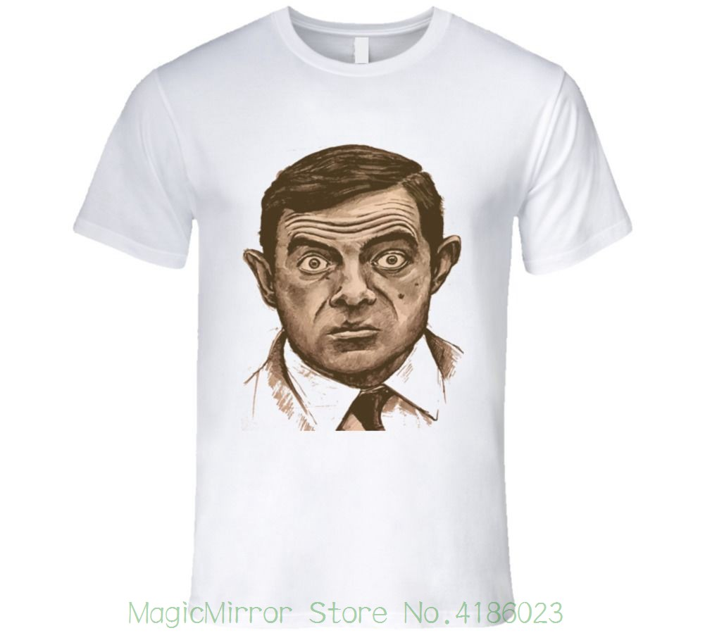 Мистер Бин забавная ТВ-шоу, британский комик дань футболка футболки 2018 брендовая одежда Slim Fit печати