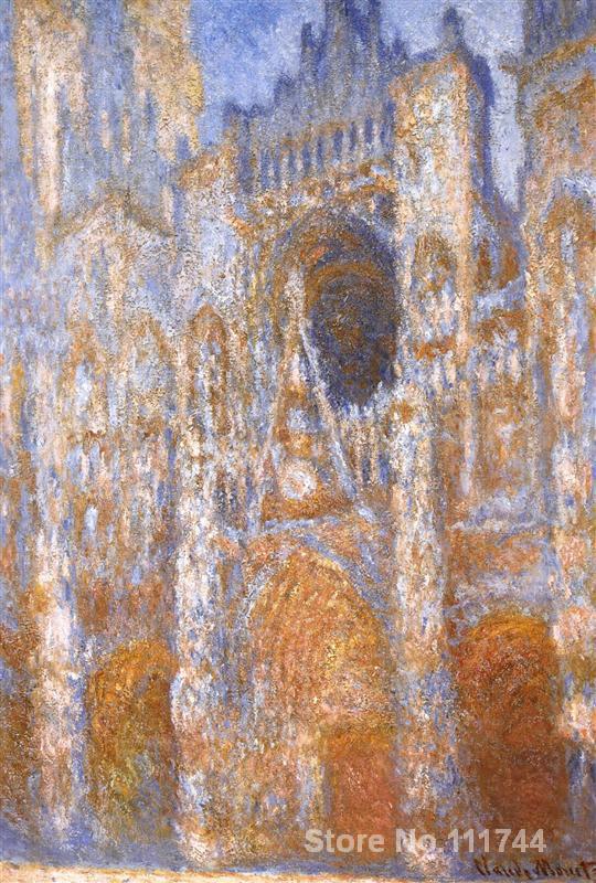Онлайн художественная галерея Rouen Cathedral The Portal at Midday Клода Мона Пейзаж Картины Ручная роспись высокое качество