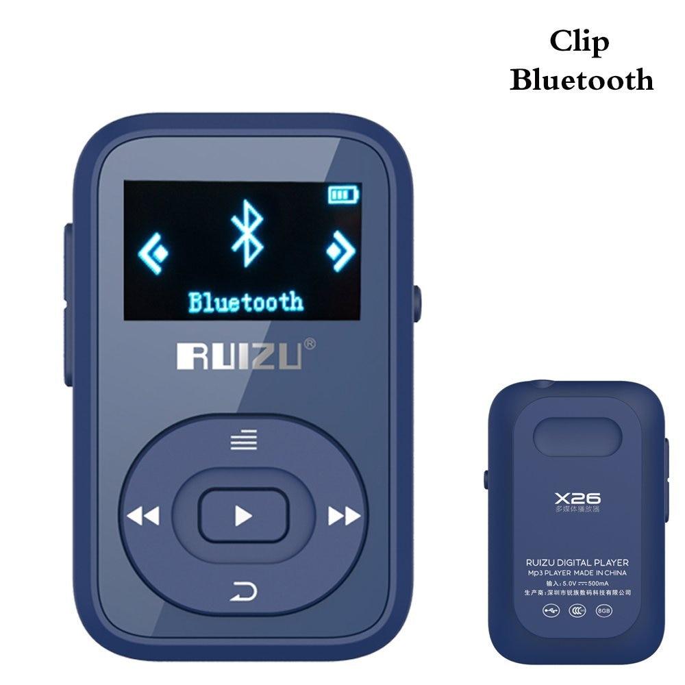 Unterhaltungselektronik Clip Bluetooth Mp3 Player 8 Gb Ruizu-x26 Mini Tragbare Verlustfreie Musik-player Mit Fm Radio Aufnahme Support Bis Zu 64 Gb-blau Der Preis Bleibt Stabil