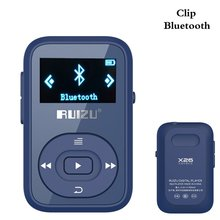 Clip Bluetooth Lossless Reproductor de MP3 8 GB RUIZU-X26 Mini Portátil Reproductor de Música con Radio FM soporte de Grabación de hasta 64 GB-Azul