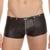 Hombres Sexy Ropa Interior Fresco Negro de Cuero de Imitación Boxer Shorts trunks calzoncillos masculinos de Látex