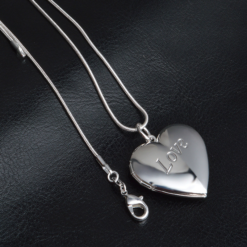 Silver snake chain necklace for women