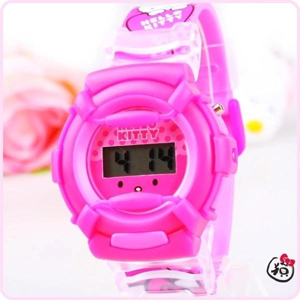 Children's cartoon Hello Kitty silicone design strap girl electronic watches