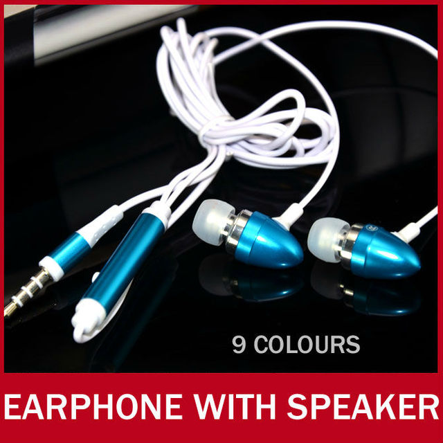 10pcs/lot Earphone With Mini Microphone 3.5mm Metal Super Bass In-ear Earbud Earphones Headphone with MIC For iPhone Smartphone