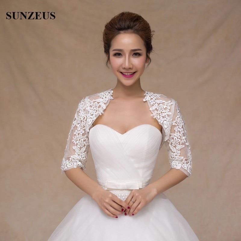 Half mouw kant bruids jasje rode avondjurk Wraps voor meisjes - Bruiloft accessoires - Foto 1