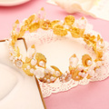 Высокого класса моды аксессуары для волос корона оголовье головной убор популярные свадебные украшения брак церемония 0674