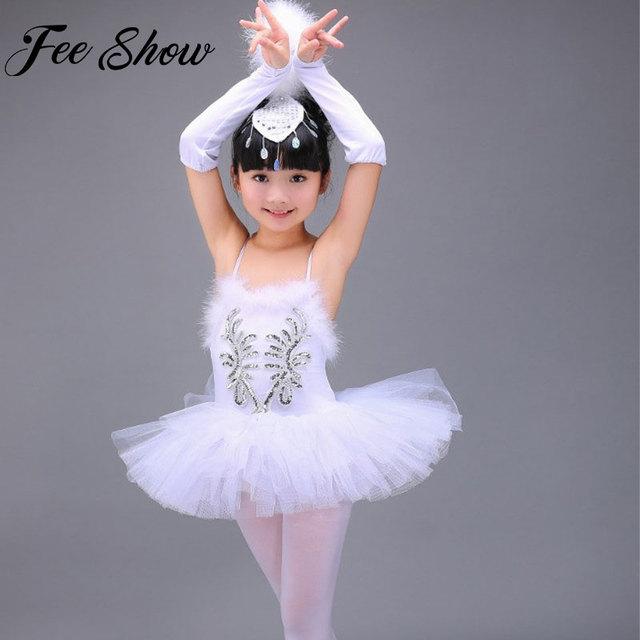 04d99b4e3707 Children Ballerina Dress Professional White Swan Lake Ballet Tutu ...
