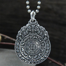 лучшая цена 925 Sterling Silver 12 Zodiac Pendant S925 Wholesale Antique   Retro Style Twelve Zodiac Female Necklace Pendant Handmade   Acce