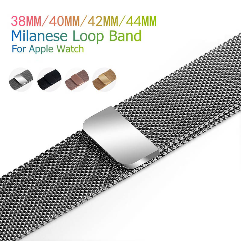 Stainless Steel Mesh Loop Band Replacement Strap for Apple Watch 1 2 3 4 KQS8Stainless Steel Mesh Loop Band Replacement Strap for Apple Watch 1 2 3 4 KQS8