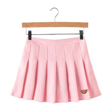 2aaf44c2acf Harajuku Skirts 2018 Summer New Spring High Waist Fashion Watermelon  embroidery Skirt Women Solid Color Plus