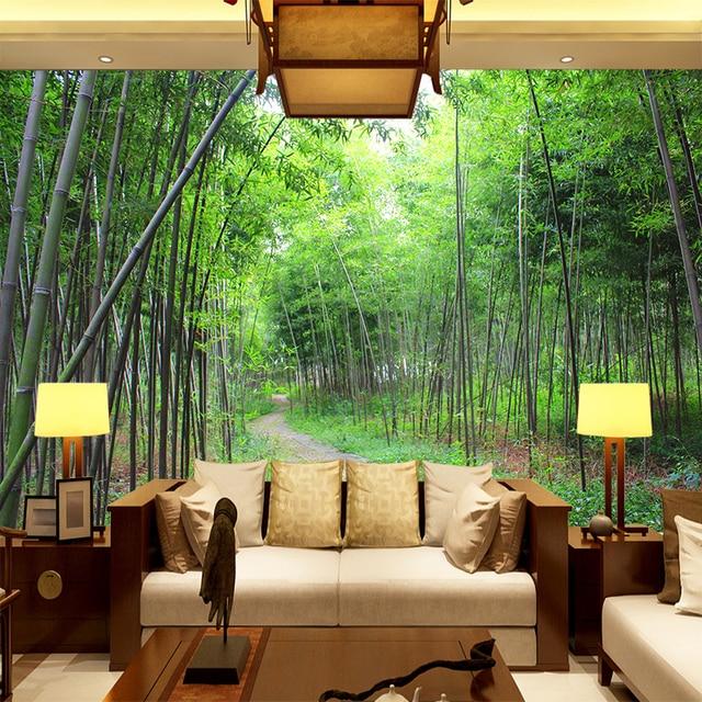 custom 3d mural 3d bamboo garden wallpaper tv sofa living room background wall bedroom library study