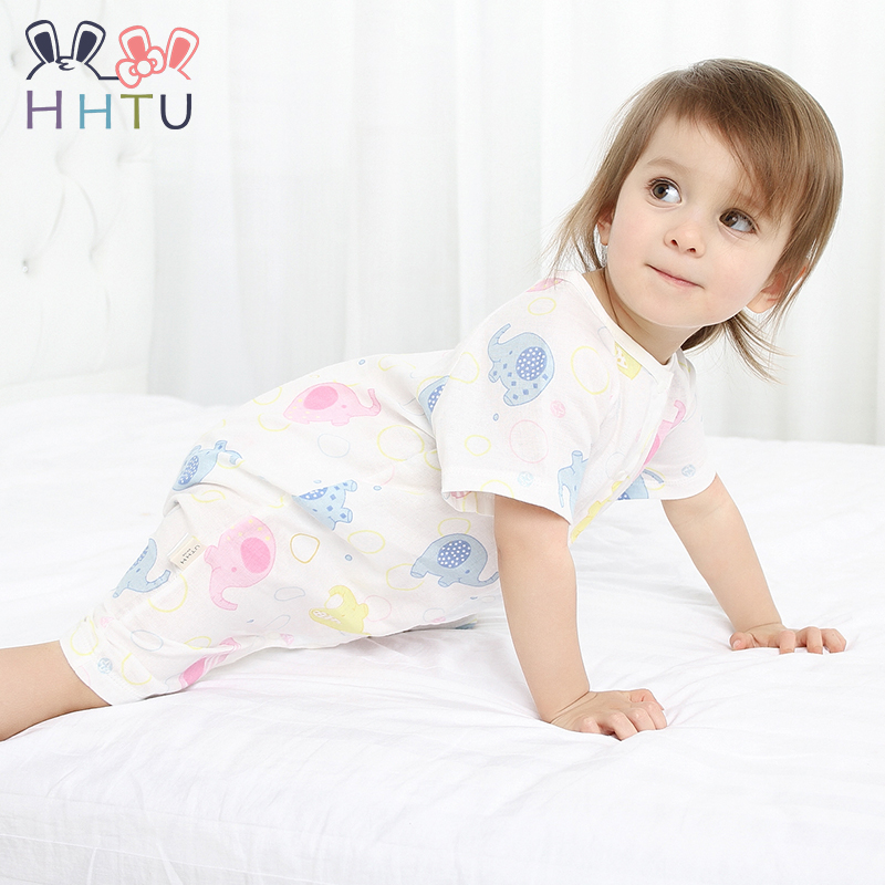 HHTU 2017 Summer Baby Clothing Summer Infant Product Fashion Newborn Baby Boy Girl Romper Clothes Lovely 100% Cotton