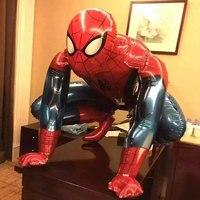 3D стоя мстители альянс тема Фольга шар 10 шт. Бэтмен Super Hero Человек-паук баллоны день рождения украшения детские игрушки