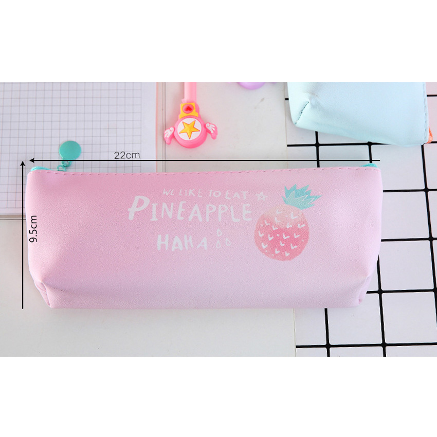 10packs lot Version Of The Small Fresh Transparent Literary Flamingo Pen Bag Large Capacity Student Stationery Four Selections in Pencil Bags from Office School Supplies