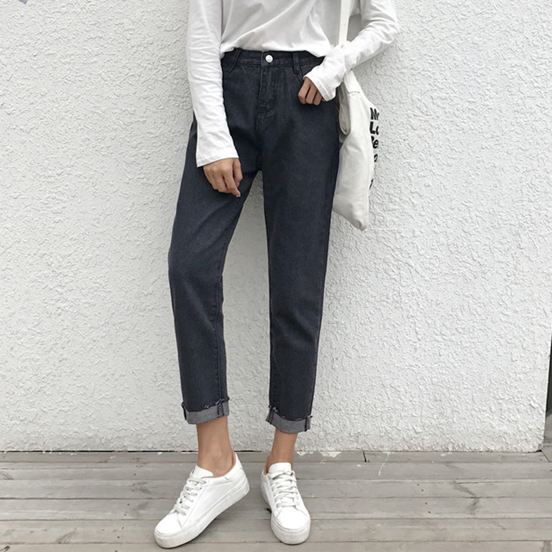 Mihoshop Ulzzang Korean Korea Women Fashion Clothing Autumn High Waist Casual Haren Loose Pants